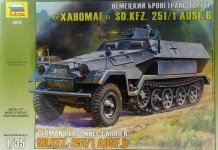 Zvezda 3572 Hanomag SdKfz-251/1Ausf.B (1:35)