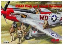 ICM 48083 USAAF Pilots and Ground Personnel (1941-1945) (1:48)