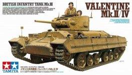 Tamiya 35352 British Infantry Tank Mk. III Valentine Mk. II/ IV 1/35