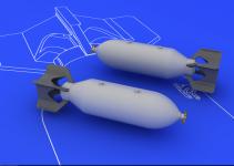 Eduard 648081 US 500lb bombs (2 pcs) 1/48