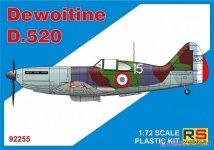RS Models 92255 Dewoitine D.520 1/72