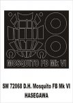 Montex SM72068 DH Mosquito HASEGAWA