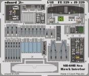 Eduard FE329 SH-60B interior 1/48 Italeri