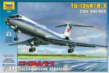 Zvezda 7007 Tupolev Tu-134B (1:144)