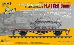 Sabre 35A03 German Railway Flatbed Ommr 1/35
