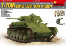 MiniArt 35194 T-70M Soviet Light Tank w/Crew Special Edition