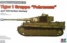 Rye Field Model 5005 Tiger I Gruppe Fehrmann April 1945 Northern Germany
