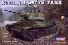 Hobby Boss 84808 Russian T-34/76 (1943 No.112)Tank (1:48)