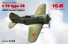 ICM 32002 I-16 type 28 WWII Soviet Fighter 1/32