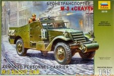 Zvezda 3519 M3 Scout armored car (1:35)