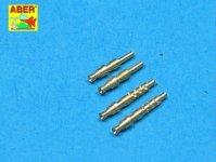 Aber A32003 Set of 4 barrels tips for German 7,92 mm MG 17 aircraft machine guns (1:32)