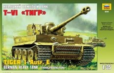 Zvezda 3646 Tiger I Ausf.E Early Production (1:35)