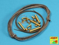 Aber 16030 Tow cables and track cable with brackets used on Tiger I, King Tiger and Panther (1:16)