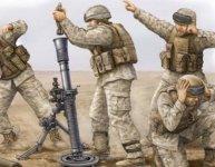Trumpeter 00423 Modern US Marine M252 Mortar Team (1:35)