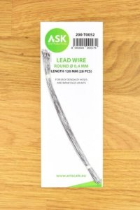 ASK T0052 Lead Wire  Round Ø 0,4 mm x 120 mm (28 pcs)