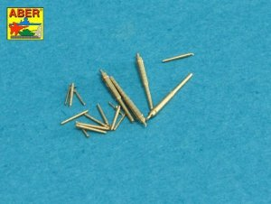 Aber 700L-34 Set of Barrels for Narvic classe destroyers type 1936A: 150mm x 5; 37mm x 8; 37mm(M42) x 10; (1:700)