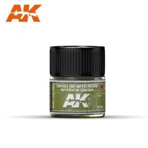 AK Interactive RC306 IJN M3 (M) MITSUBISHI INTERIOR GREEN 10ML