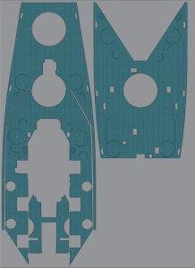 Pontos 35025WD1 USS BB-59 Massachusetts Wooden Deck set (1:350)