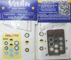 Yahu Models YMS3203 Yak 1 / 7 / 9 / 3 wing (fuel) gauges 1:32
