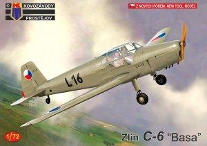 """Kovozavody Prostejov KPM0230 Zlin C-6 """"Basa"""" 1/72"""