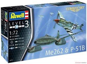Revell 03711 Combat Set Me262 & P-51B 1/72