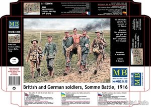 Master Box 35158 British and German soldiers Somme Battle 1916