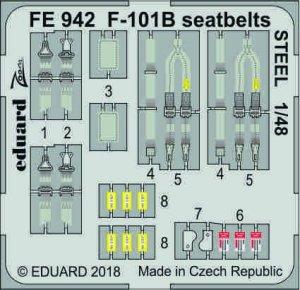 Eduard FE942 F-101B seatbelts STEEL 1/48 KITTY HAWK