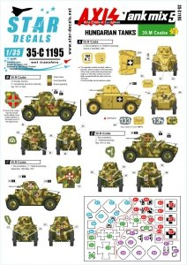 Star Decals 35-C1195 Axis Tank mix # 5 1/35