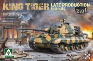 Takom 2130 German Heavy Tank Sd.Kfz.182 King Tiger Late Production 2 in 1 (without interior) 1/35