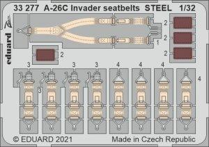 Eduard 33277 A-26C Invader seatbelts STEEL for HOBBY BOSS 1/32
