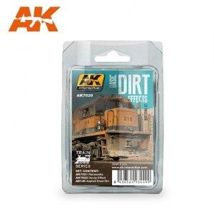 AK Interactive AK 7020 BASIC DIRT EFFECTS WEATHERING SET