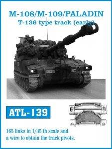 Friulmodel 1:35 ATL-139 M-108/M109 /PALADIN T-139 type track (early)