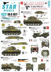 Star Decals 35-C1077 Polish Tanks in Italy # 1 1/35
