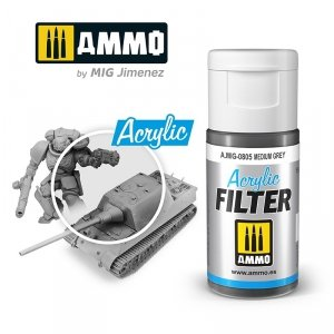 Ammo of Mig 0805 ACRYLIC FILTER Medium Grey 15 ml