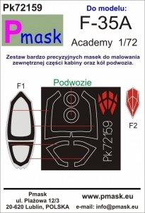 P-Mask PK72159 F-35A (Academy) 1/72