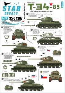 Star Decals 35-C1307 T-34-85 Medium Tank 1/35