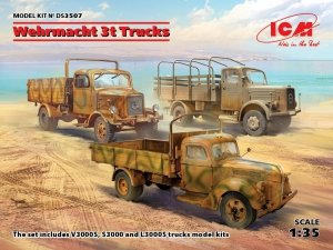 ICM DS3507 Wehrmacht 3t Trucks (V3000S, KHD S3000, L3000S) 1/35