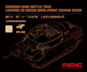 Meng Model SPS-066 Canadian Main Battle Tank Leopard C2 MEXAS Sand-Proof Canvas Cover 1/35