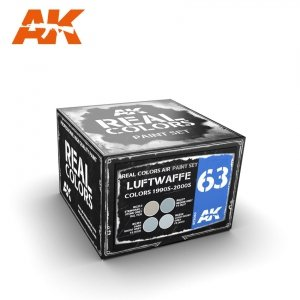 AK Interactive RCS063 LUFTWAFFE COLORS 1990S-2000S SET 4x10ml