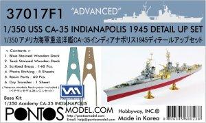 Pontos 37017F1 USS CA-35 Indianapolis 1945 Detail Up Set ADVANCED (1:350)