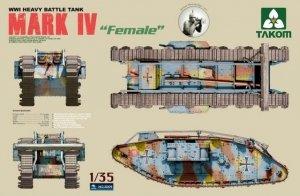 Takom 2009 Mark IV Female WWI Heavy Battle Tank (1:35)