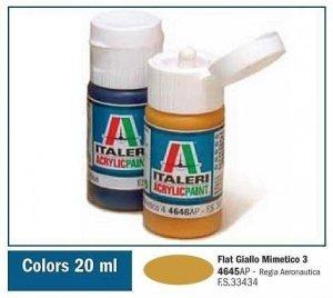 Italeri 4645 FLAT GIALLO MIMETICO 3 20ml