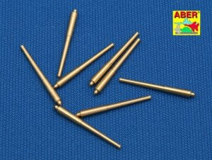 Aber 1:700L-08 Set of 8 pcs 381mm long barrels for turrets without antiblast covers ships Hood 1/700