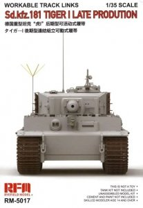 Rye Field Model 5017 Sd.Kfz. 181 Tiger I Late Production Workable Track Links 1/35