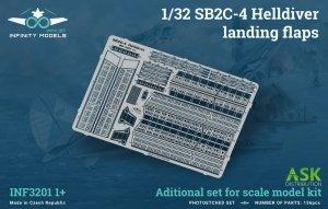 Infinity Models INF3201-01+ SB2C-4 Helldiver landing flaps 1/32
