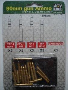 AFV Club 35076 90mm Gun Ammo 1/35