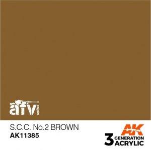 AK-Interactive AK 11385 S.C.C. No.2 Brown 17ml