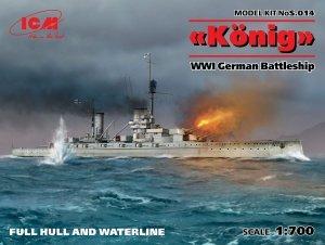 ICM S014 WWI German Battleship König (Full Hull OR Waterline) 1/700