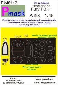 P-Mask PK48117 Hawker Sea Fury FB.11 (Airfix) 1/48