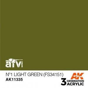 AK-Interactive AK 11335 Nº1 Light Green (FS34151) 17ml